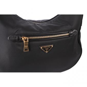 thailand replica handbags - Prada Black Tessuto Hobo | Coquette of Las Vegas
