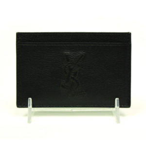 Ysl brown leather business cardholder coquette of las vegas reheart Image collections